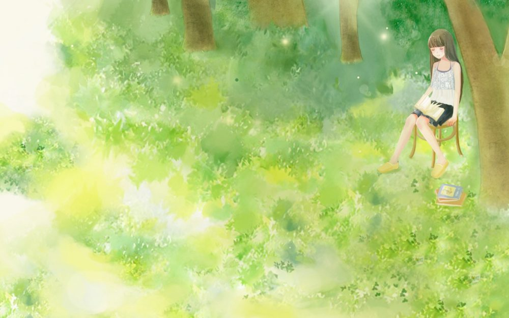 Tranquil midsummer desktop wallpaper