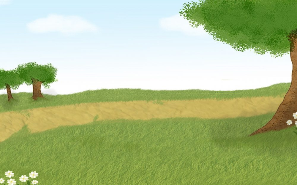 Nice vector landscape painting desktop wallpaper