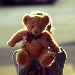 Teddy bear, bandage, teddy bear, hands, girl