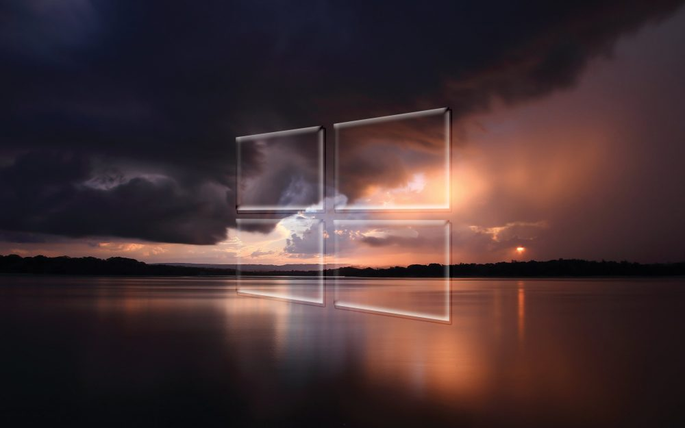 Windows 10, stormy, transparent, the, over