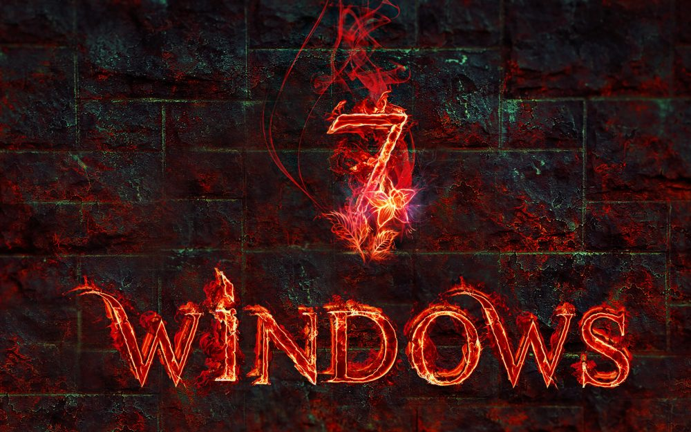 windows, operating system. texture, flame