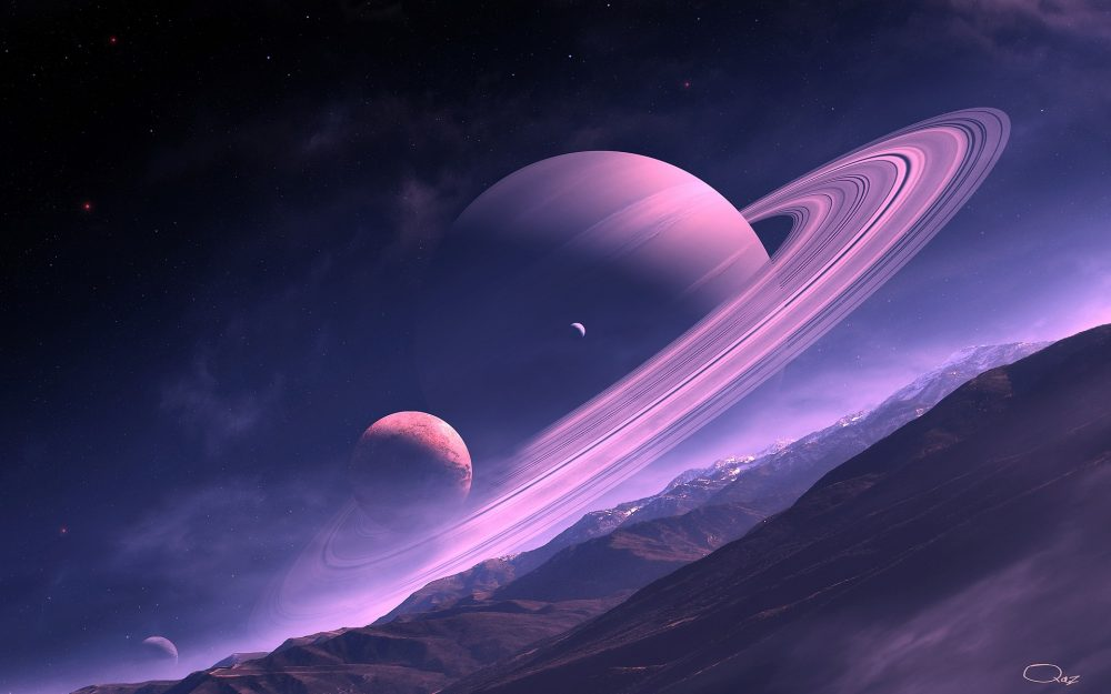 Purple fantasy planet HD wallpaper download