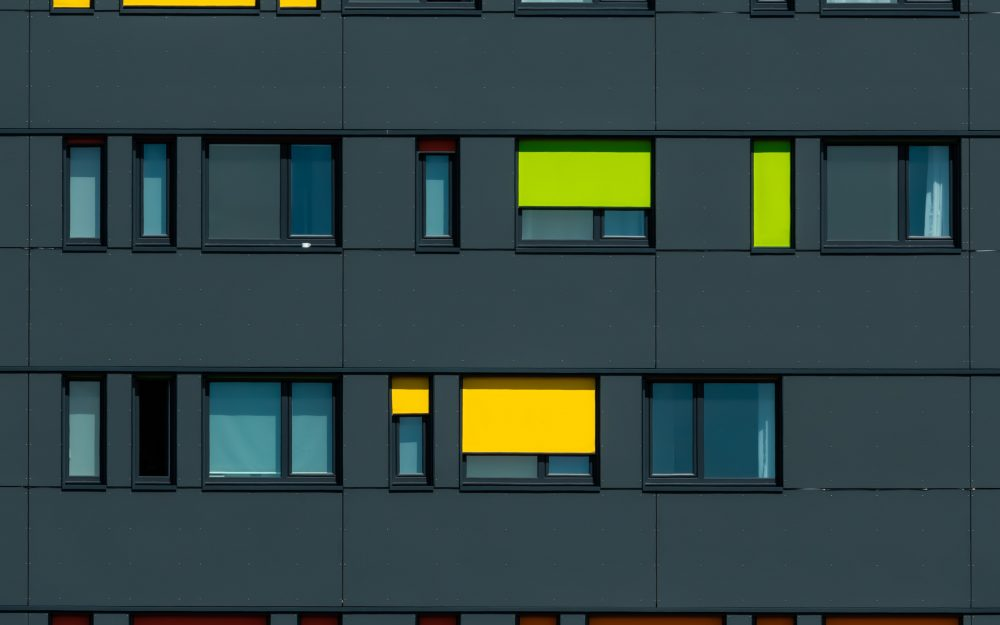 windows, facade, colorful