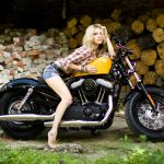Motorcycle, Bike, sportster, Harley davidson, girl