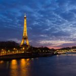 Eiffel tower in the night hd wallpaper