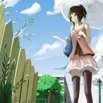 Outgoing anime girl picture wallpaper