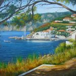 Paintings, drawings, view, drawing, trees, art, landscapes