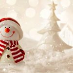 Winter, snow, Merry Christmas, adorable snowman, winter, Christmas wallpaper