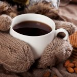 waffles, mittens, coffee, cozy, drink, nuts