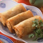 Delicious spring rolls hd wallpaper