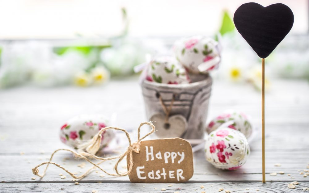 Pasha, decoration, heart, Easter, flowers, happy, spring, pastel, flowers, painted eggs, eggs