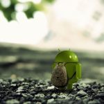Android with a bag