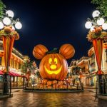 Halloween, holiday, pumpkin, orange, Mickey Mouse, Happy Halloween Wallpaper