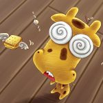 Hunger Taurus cute cartoon wallpaper