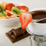 Hot chocolate with fruit