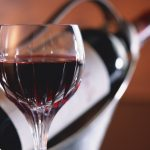 Bottle of wine with glass hd wallpaper