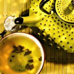 Yellow, Exotic tea, teapot