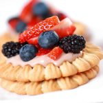 Pastries with berries