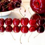 Red, background, sweet, cherry, apple