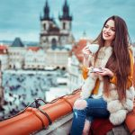 Jacket, saucer, home, hairstyle, prague, roof, mood, ivan gorokhov, makeup, brown, fur, smile, ripped jeans, height