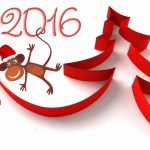 2016 Year of the Monkey Merry Christmas wallpaper
