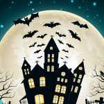 Halloween, bats, moon, castle pictures, Halloween Desktop Wallpapers