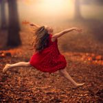 baby, Automn, freedom, jump, girl, dress, autumn, girl, Road General Description