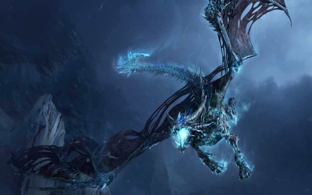 WoW Flying ice dragon wallpaper