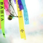 Ribbons, charms, fabric scraps, different