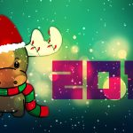 Merry Christmas, lamb, cute, computer wallpaper Happy New Year 2015