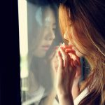 Standing at the window sad hair beauty wallpaper
