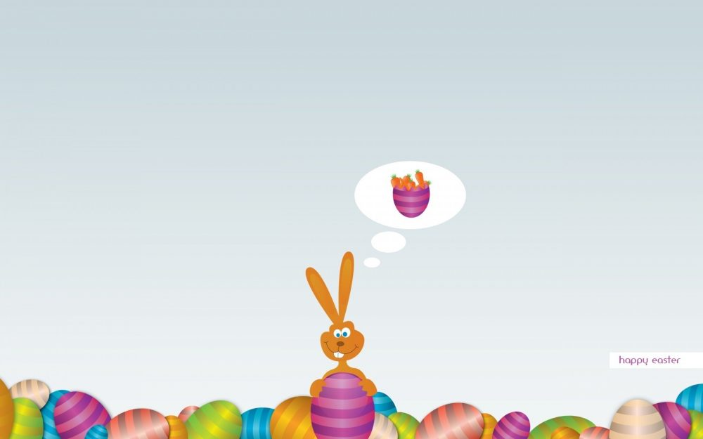 Easter, bunny, wishes, holiday, carrot, misli, eggs