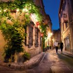 Romantic street walking wallpaper