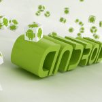 Android green effect hd wallpaper