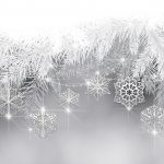decoration, black and white background with snowflakes