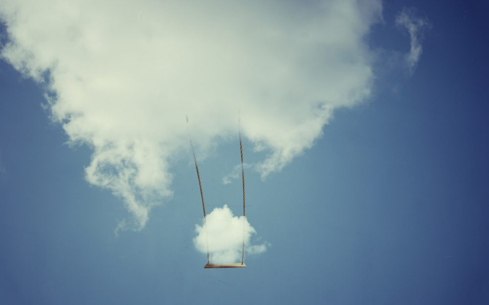 swing, cloud