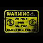 Shield, high voltage, electric, do not pee, Warning, dangerous, fence