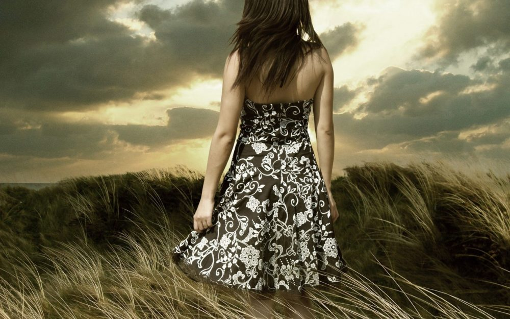 Aesthetic background beauty dress Landscape wallpaper