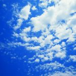 Blue sky and white clouds wallpaper