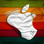 white, red, apple, paper