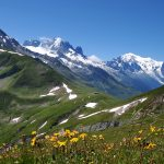 Beautiful Alpine scenery HD Wallpaper