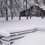 Woods cabin Snow HD desktop wallpaper