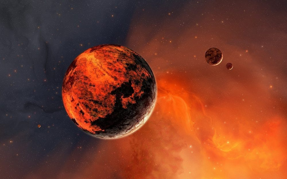 Planet in red