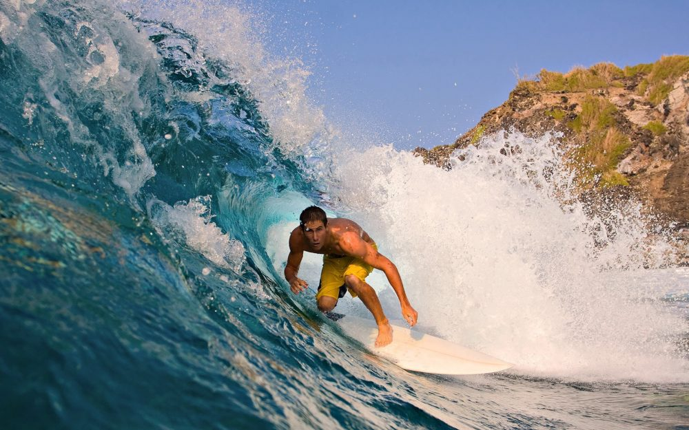 guy, wave, surfing, athlete wallpaper