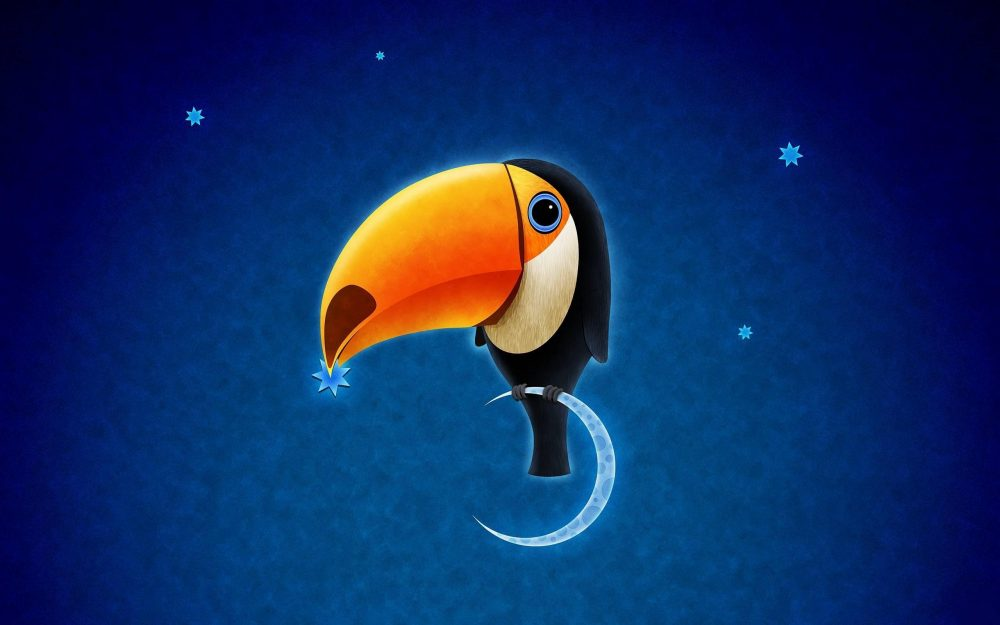 Toucan, beak, star, month