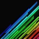 Texture, multicolored lines on a black background, style