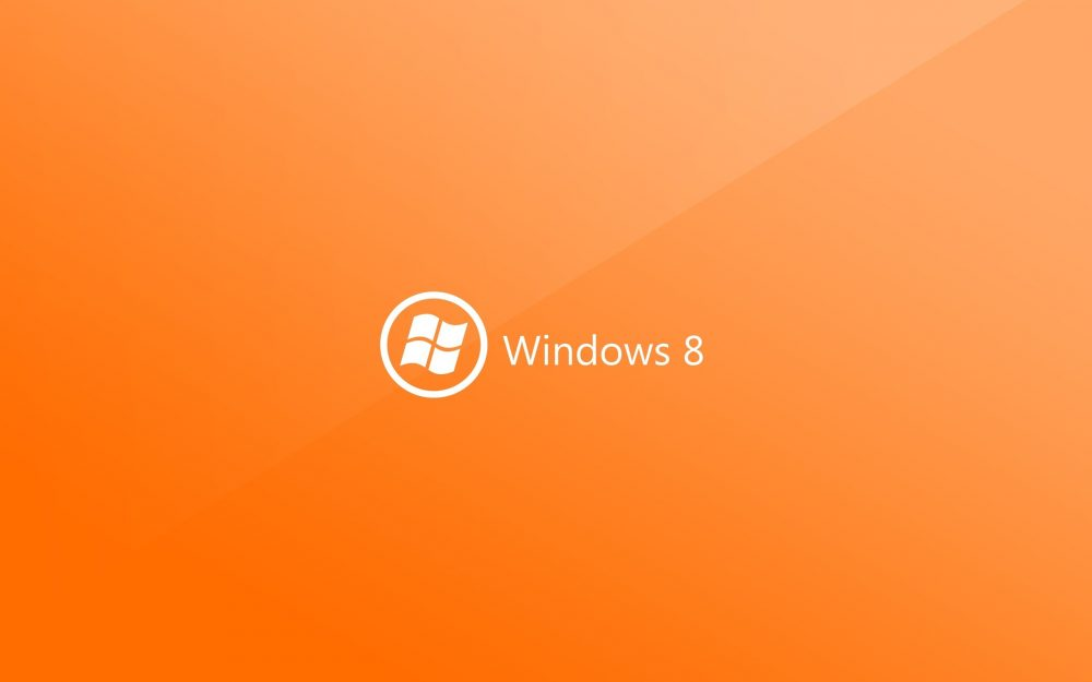 white, orange, windows 8
