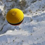 Air, snow, ball
