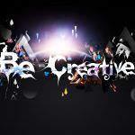 Abstraction, creativity, sign, black background