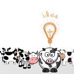 lamp, cows, idea desktop wallpaper